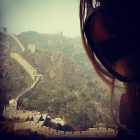 Looking out at the Great Wall of China
